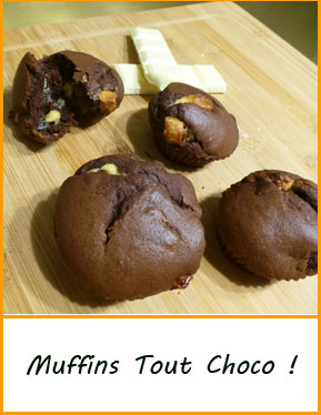 patisserie gateau facile original muffin chocolat blanc noir