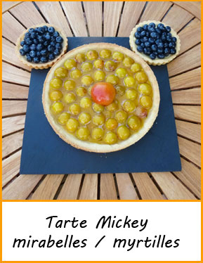 idees recettes originales tarte mickey fruits