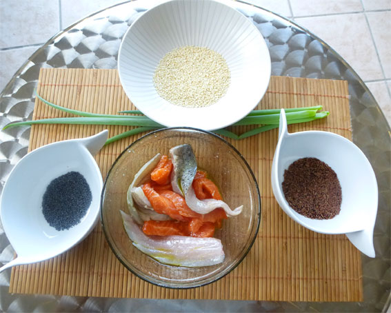 ingredients recette bar saumon rouget