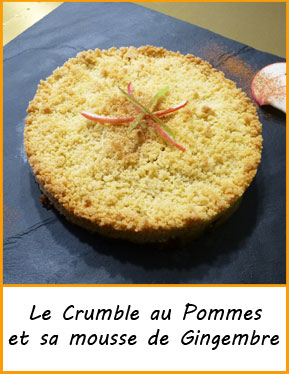 recette crumble pomme gingembre